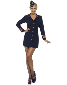 Sexy Stewardess Damen Kostüm
