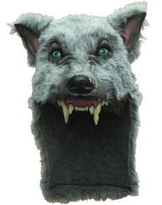 Grauer Wolf Maske Kopfbedeckung