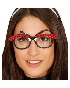Marienkäfer Brille für Erwachsene