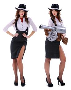 Elegantes Gangster Kostüm für Damen